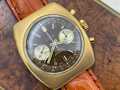 $ CDN865.38 • Buy Handsome Vintage Orfina Valjoux 7733 Chronograph Gold Plated Watch - Serviced!
