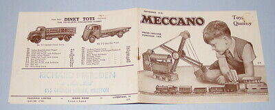 Meccano Products Catalogue September 1952 Issue Dinky Toys Hornby Dublo Etc • 17.50£