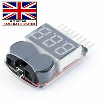 £4.10 • Buy RC Lipo Battery Low Voltage Alarm 1S8S Buzzer Indicator Tester LED Checker B6L8