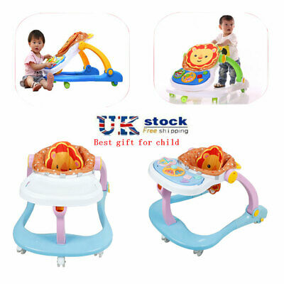 Multi Function Baby Walker First Steps Push Along Bouncer Activity Musical Toys • 24.89£