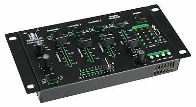 DJ Mixer Controller 4 Channel USB Mp3 Player Crossfader Bluetooth CUE Recording • 52.99£
