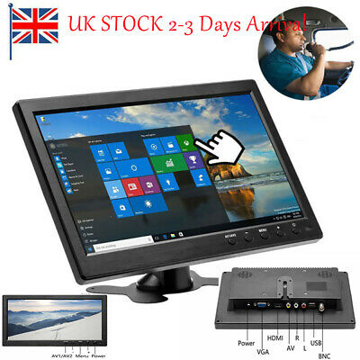 10.1 Inch TFT 1080P Screen LCD Monitor Display With HDMI/AV/VGA Input UK STOCK • 51.99£