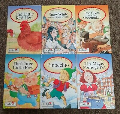 Ladybird Favourite Tales 6 Books Good • 9.99£