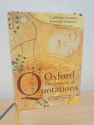 Oxford Dictionary Of Quotations~Knowles; 2009; Hardback And Dust Jacket • 27.99£