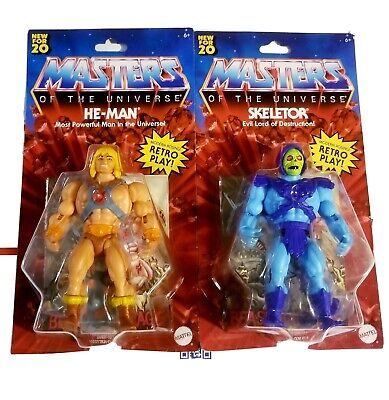 $59.99 • Buy Masters Of The Universe Origins He-Man And Skeletor LOT Walmart Exclusive Retro