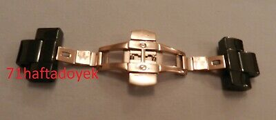 Rose Gold Clasp + Ceramic Side Links Fits AR1410 Armani Men's Watch Strap 22mm • 16.45£