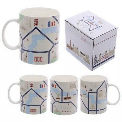 World Famous London Map Design  Bone China Mug -  Gift Boxed  - MUG198 • 5.99£