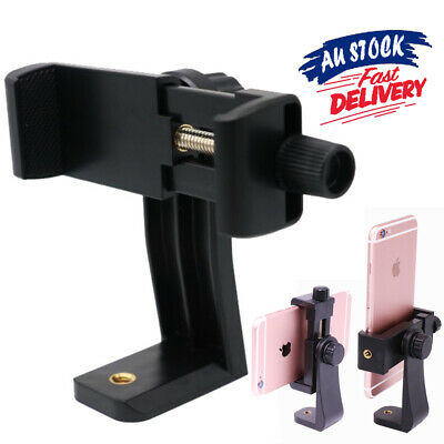 AU11.99 • Buy For IPhone Camera  Cell Phone Holder Mount Smartphone Tripod Adapter Universal