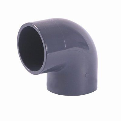 £9 • Buy 90 Degree Elbow PVC Solvent Weld Pressure Pipe Fitting Imperial Sizes: 1/2  : 6