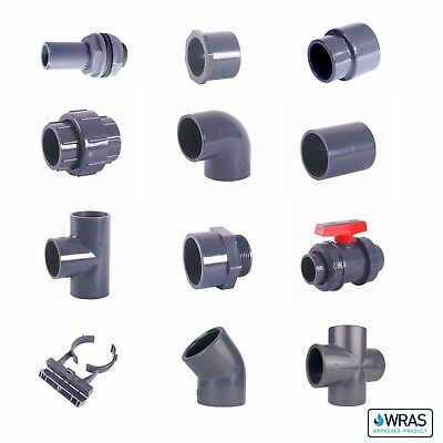 £1.47 • Buy PVC Imperial Solvent Weld Pressure Pipe & Fittings 1/2  To 2 1/2  WRAS.