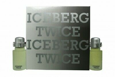 Iceberg Twice Pour Homme Gift Set 75ml Edt + 75ml Aftershave Lotion - Men's. New • 23.60£