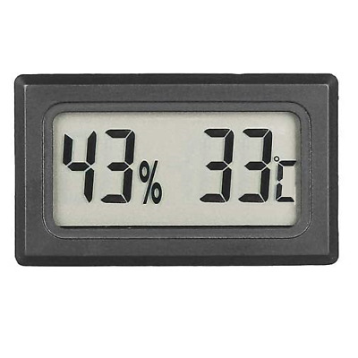 Thermometer Humidity Meter For Hydroponic Grow Rooms - Mushroom Growing • 6.99£