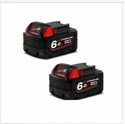 AU218.88 • Buy 2x Genuine MILWAUKEE M18B6 18V M18 6.0AH RED LITHIUM ION BATTERY 18 VOLT LI-ION