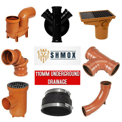 £44.99 • Buy Underground Drainage 110mm | Bends | Traps | Gullies | Inspection Chamber
