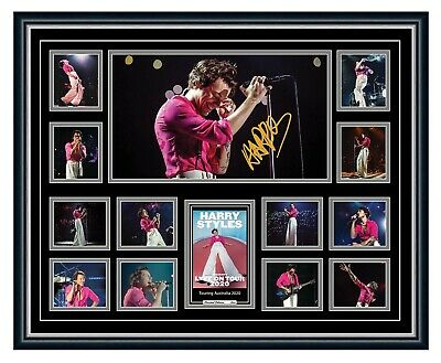 AU99.99 • Buy Harry Styles Love On Tour 2020 Signed Poster Limited Edition Framed Memorabilia