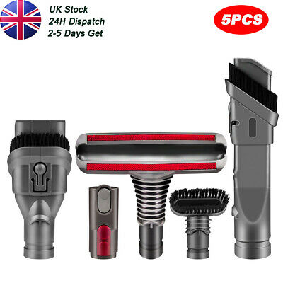 5Pcs Attachments Tools Kit For Dyson V6 Absolute Animal Vacuum DC16 DC24 DC35 • 9.99£