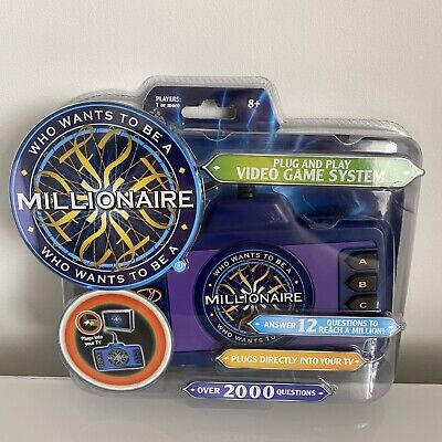 Who Wants To Be A Millionaire Plug And Play Video Game System Brand New Rare • 44.99£