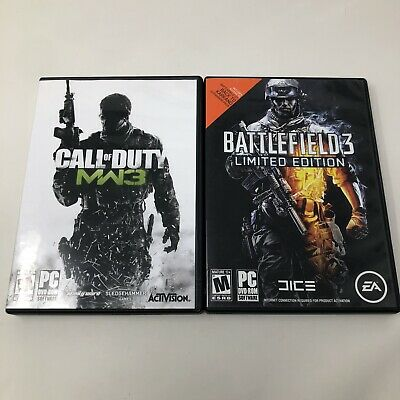 Call Of Duty Modern Warfare 3 & Battlefield 3 Limited Edition PC Video Game Lot • 13.76£