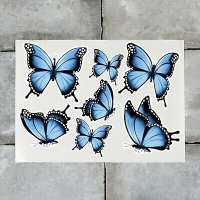 £2.99 • Buy 7 X Butterfly Stickers Decals Butterflies Wall Self Adhesive Vinyl