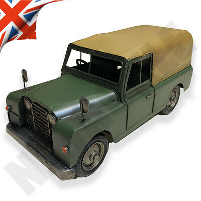 VINTAGE 4x4 LAND ROVER METAL / TIN ORNAMENT - VINTAGE TRANSPORT LP42179  • 24.95£