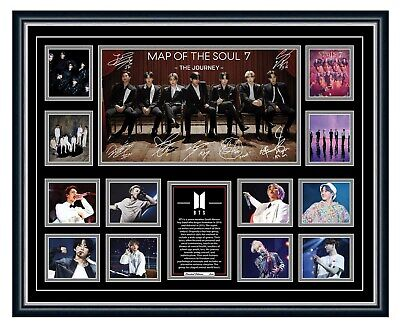 AU99.99 • Buy Bts Map Of The Soul 7 2020 K-pop Signed Photo Limited Edition Framed Memorabilia