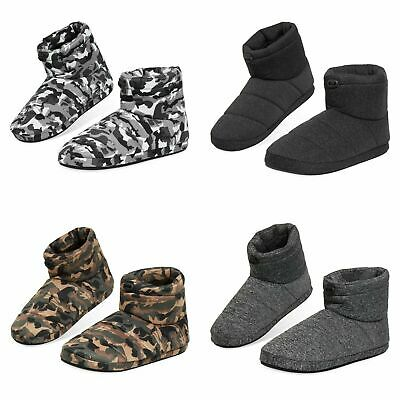 £14.69 • Buy Dunlop Warm Fluffy And Cosy House Boots Slippers For Men