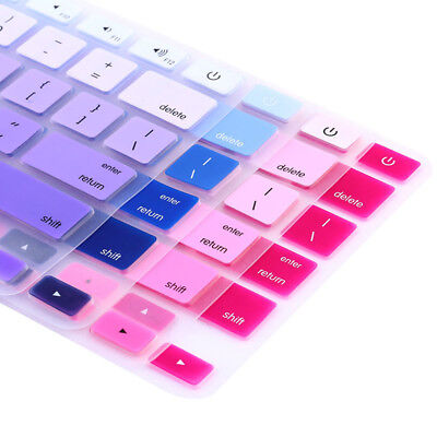 Rainbow Silicone Keyboard Case Cover Skin Protector For IMac MacbookPro13 15 .dr • 2.26£