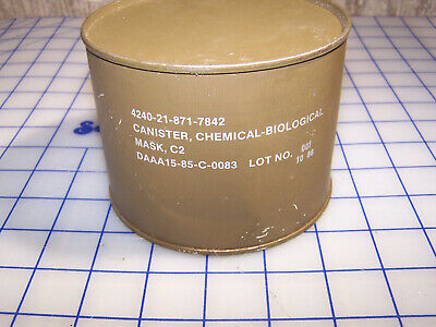 $17 • Buy Un-issued M40 C2 Chemical-biological Gas Mask Filter New In Sealed Canister 7842