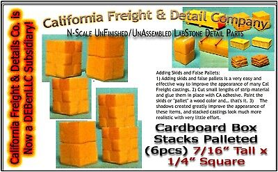 $ CDN5.76 • Buy Cardboard Box Stacks Palleted (6pcs) Scale Model Masterpieces/Cal Freight N/Nn3