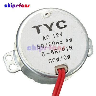 Pro TYC-50 12V 4W 50/60Hz Synchronous Motor 5~6r/min CW/CCW Microwave Turntable • 2.45£