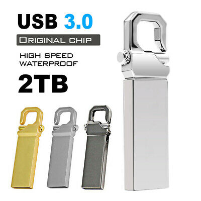 $ CDN11.77 • Buy 2TB Metal USB 3.0 Flash Drive Memory Stick Pen U Disk Swivel Key Thumb PC Laptop