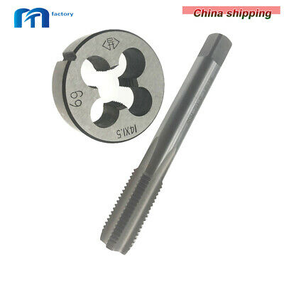 $12.86 • Buy M14 X 1.5mm HSS Metric Tap And Die Set Right Hand Thread High Quality New