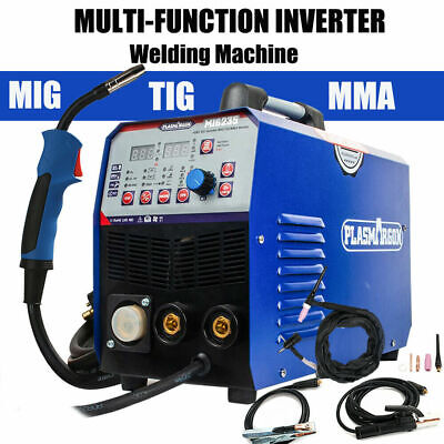 200Amp Inverter MIG TIG ARC Welder Gas/Gasless MIG Welding Machine 2T/4T 220V • 265£