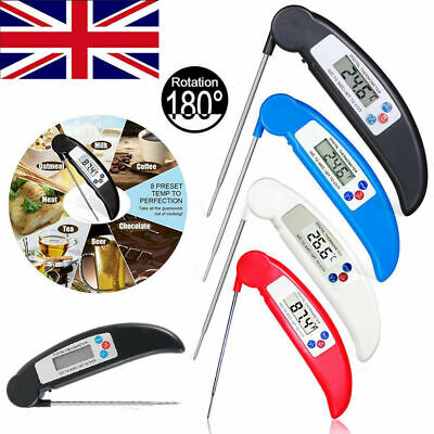 £5.35 • Buy LCD Digital Food Thermometer Probe Temperature Kitchen Cooking BBQ Meat Turkey