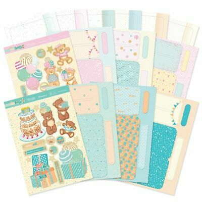 Birthday Card Making Toppers Kits Hunkydory Bear Concept Children Baby Boy Girl  • 15.99£