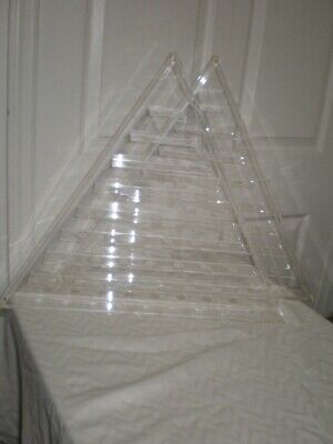 45 Golf Ball Display Case Rack Cabinet 20  Lucite Acrylic Triangle Pyramid Shape • 108.50£