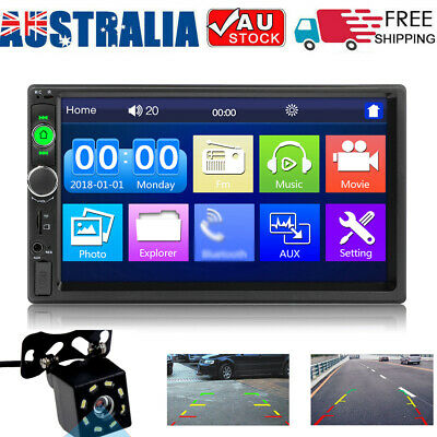 AU56.89 • Buy 7 Inch 2 Din Car Stereo Radio MP5 Player Touched Head Unit AUX/USB/FM + Camera