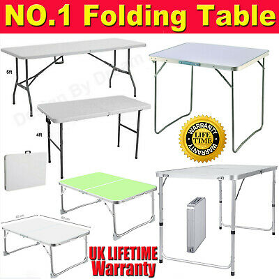 New Catering Folding Camping Table Picnic Portable Adjustable Party Bbq Outdoor • 11.90£