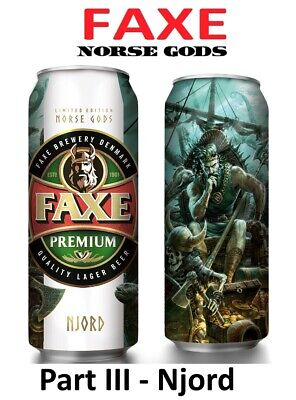 $ CDN8 • Buy FAXE Beer Can Norse Gods Part III - Njord 450 Ml Limited Edition Bottom Open!