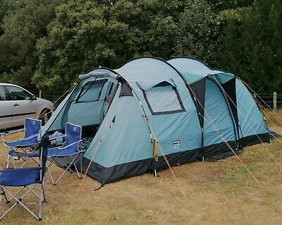 Vango Tigris 6 Person Tunnel Tent Side Door Canopy, Great Condition • 180£