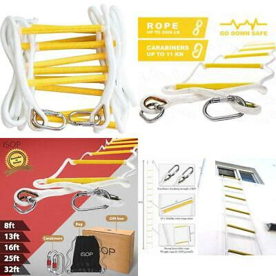 Isop Fire Escape Rope Ladder 2 Storey 5M (16Ft) - Flame Resistant Safety Ladders • 127.46£