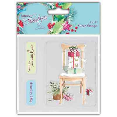 Papermania 'At Christmas By Lucy Cromwell - Christmas Chair' 4  X 4  Stamps Set • 1.99£