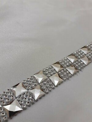 20mm Diamante Bling Sparkling Diamond Effect Wedding Cake Craft Trim Ribbon SQR • 1£