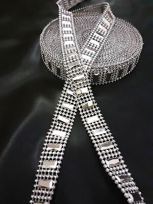 20mm Diamante Bling Sparkling Diamond Effect Wedding Cake Craft Trim Ribbon OBL • 1£