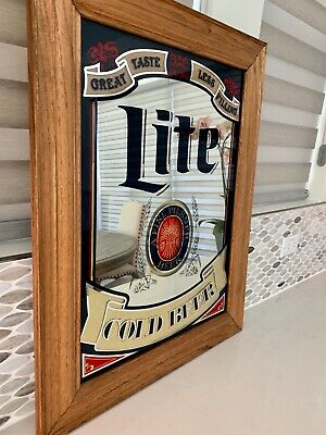 $49.98 • Buy Miller Lite Mirror Framed By Wood...LOCAL PICKUP ONLY