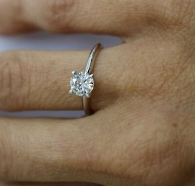 $ CDN3427.31 • Buy Diamond Ring Round Solitaire 1 Carat Vs2 D Excellent 14k  White Gold Wedding New