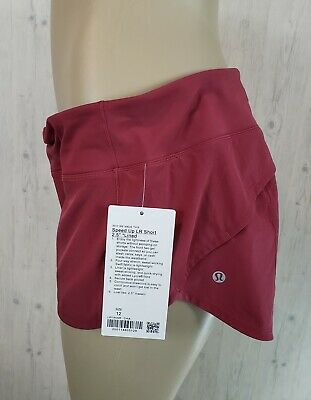 $ CDN99 • Buy NWT Lululemon Speed Up Short Size 12 Chianti Red 2.5