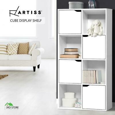 AU89.31 • Buy Artiss Display Shelf Bookshelf 8 Cube Storage Door Cabinet Organiser Unit White