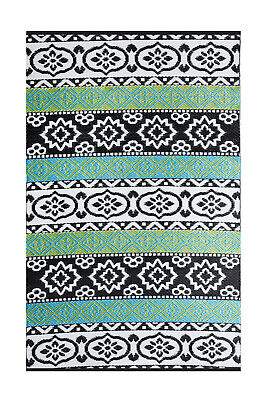 AU69.90 • Buy Recycled Plastic Outdoor Rug And Mat Waterproof Reversible Multicolour Indiana