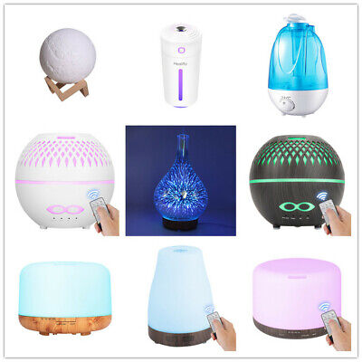 AU19.99 • Buy Aroma Aromatherapy Diffuser Essential Oil Ultrasonic Air Humidifier LED Purifier